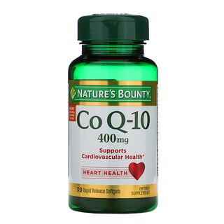 Nature's Bounty, Co Q-10, 400 mg, 39 cápsulas blandas de rápida liberación