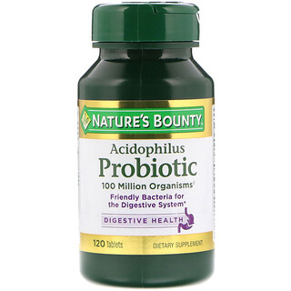 Nature's Bounty, Acidophilus Probiotic, 120 Tablets