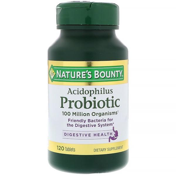 Nature's Bounty, Ацидофилус пробиотик, 120 таблеток