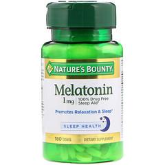Nature's Bounty, Melatonin, 1 mg, 180 Tablets