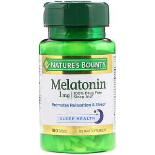 Nature's Bounty, Melatonin, 1 mg, 180 Tablets