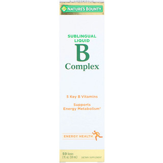 Nature's Bounty, B-Complex, Sublingual Liquid, 2 fl oz (59 ml)