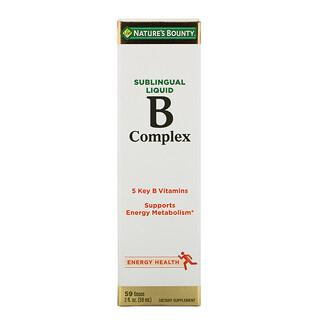 Nature's Bounty, B-Complex, liquide sublingual, 59 ml (2 fl oz)