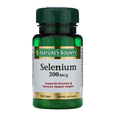 Купить Nature's Bounty Селен, 200 мкг, 100 таблеток