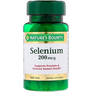Nature's Bounty, Selenium, 200 mcg, 100 Tablets
