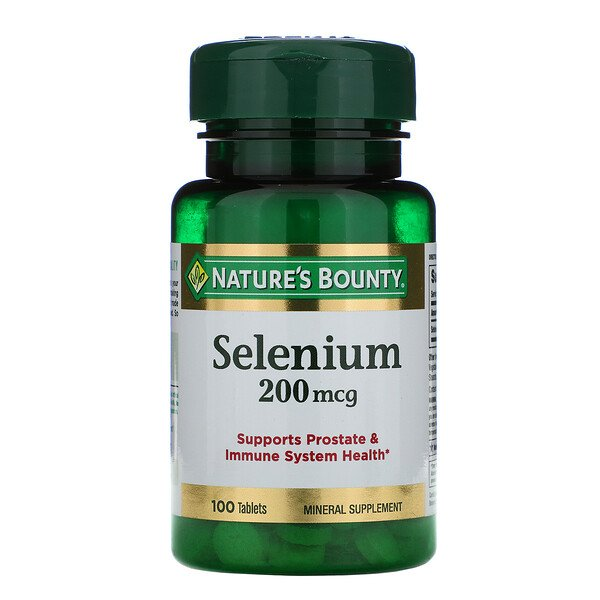 Nature's Bounty, Selen, 200 mcg, 100 Tabletten