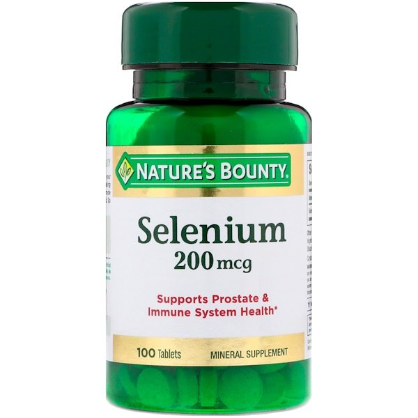 Nature's Bounty, Selenio, 200 mcg, 100 Tabletas