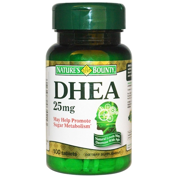 Nature's Bounty, DHEA, 25 mg, 100 Tablets (Discontinued Item)