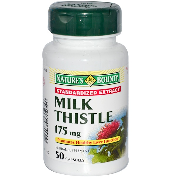 Nature's Bounty, Milk Thistle, Standardized Extract, 175 mg, 50 Capsules (Discontinued Item)
