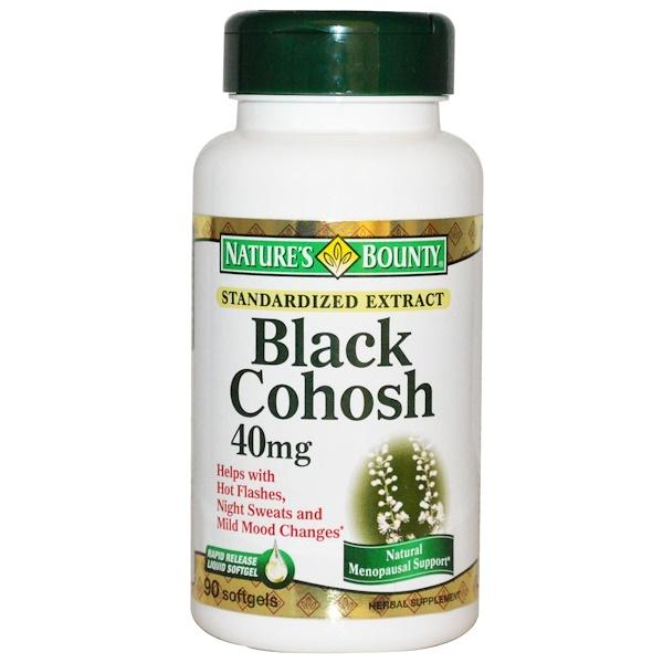 Nature's Bounty, Black Cohosh, 40 mg, 90 Softgels (Discontinued Item)