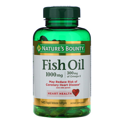 Nature's Bounty Fish Oil, 1,000 mg, 145 Rapid Release Softgels