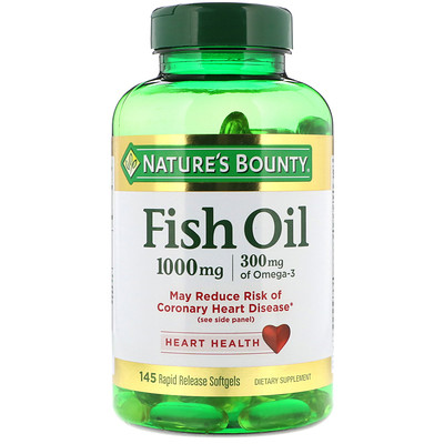 Fish Oil, 1,000 mg, 145 Rapid Release Softgels