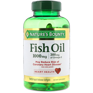 Nature's Bounty, Fish Oil, 1000 mg, 145 Rapid Release Softgels