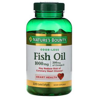 Nature's Bounty, Huile de poisson, 1000 mg, 220 gélules souples enrobées