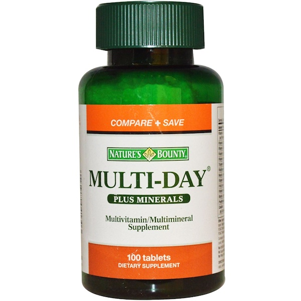 Nature's Bounty, Multi-Day Plus Minerals, 100 Tablets (Discontinued Item)