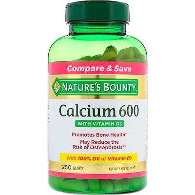 Купить Nature's Bounty Calcium 600 с витамином D3, 250 таблеток