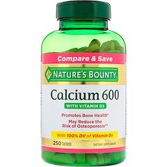 Nature's Bounty, 鈣600含維生素D3補充片,250片