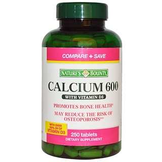 Nature's Bounty, Calcium with Vitamin D3, 600 mg, 250 Tablets