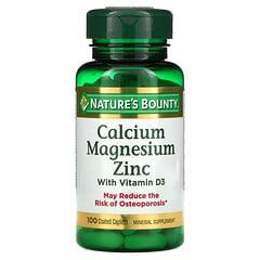 Nature's Bounty, 含維生素 D3 的鈣鎂鋅,100 粒包衣膠囊