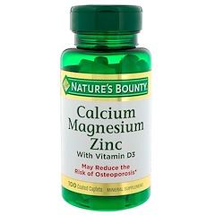 Nature's Bounty, Calcium, magnésium, zinc et vitamine D3, 100 gélules enrobées