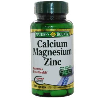Nature's Bounty, Calcium Magnesium Zinc, 100 Coated Caplets