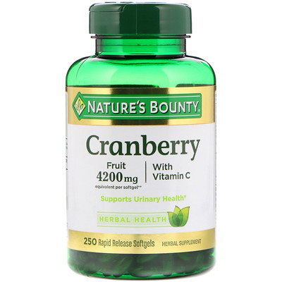 Cranberry with Vitamin C, 250 Rapid Release Softgels calcium plus vitamin d3 1 200 mg 120 rapid release softgels
