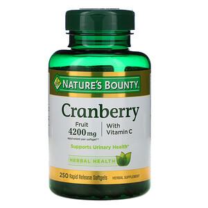 Натурес Баунти, Cranberry with Vitamin C, 250 Rapid Release Softgels отзывы покупателей