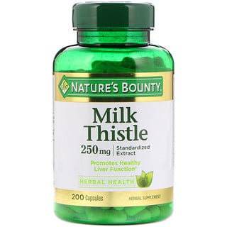 Nature's Bounty, Milk Thistle, 250 mg, 200 Capsules