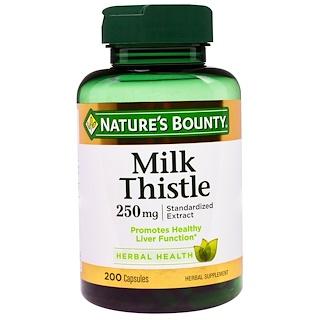 Nature's Bounty, Milk Thistle, 250 mg, 200 Capsules