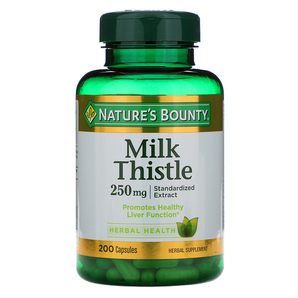 Milk Thistle, 250 mg, 200 Capsules