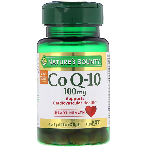 Nature's Bounty, Co Q-10, 100 mg, 45 Rapid Release Softgels