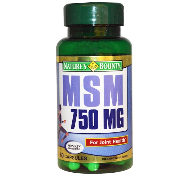 Nature's Bounty, MSM, 750 mg, 60 Capsules (Discontinued Item)