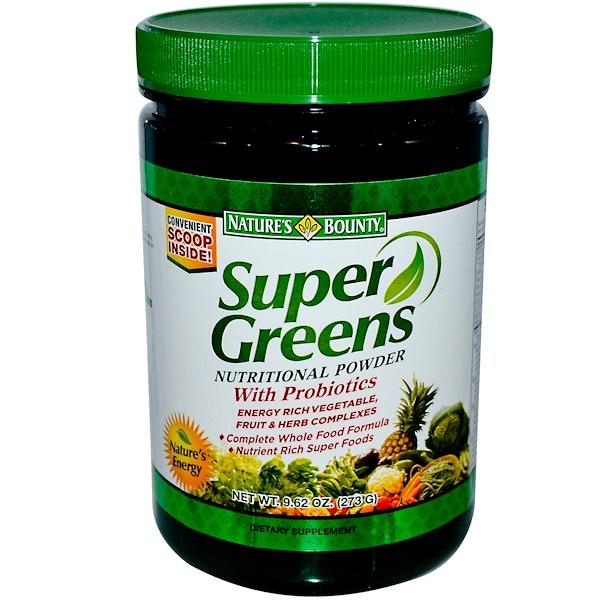 Nature's Bounty, Super Greens, Nutritional Powder, 9.62 oz (273 g) (Discontinued Item)