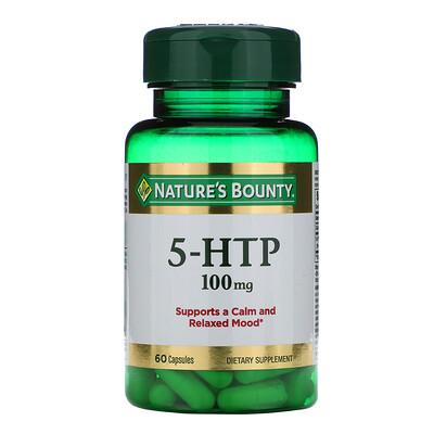 Купить Nature's Bounty 5-гидрокситриптофан, 100 мг, 60 капсул