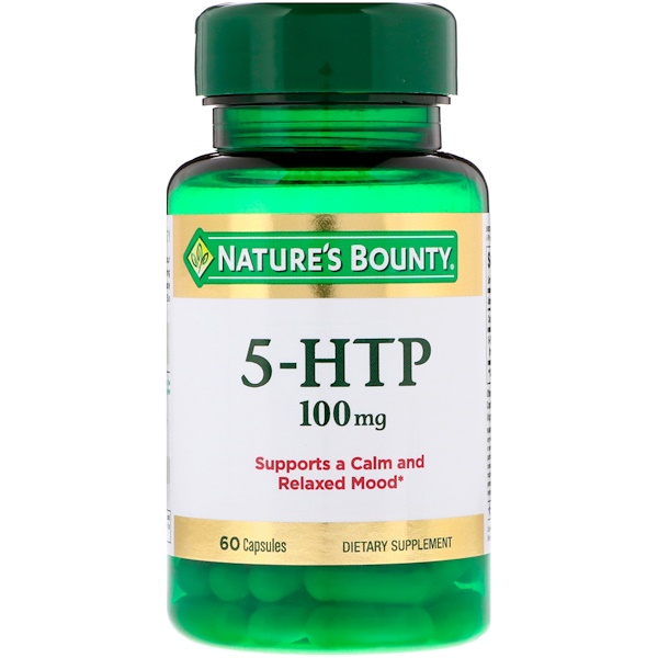 Nature's Bounty, 5-HTP, 100 mg, 60 Cápsulas