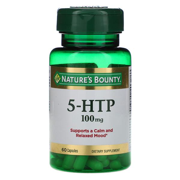 5-HTP, 100 mg, 60 Capsules
