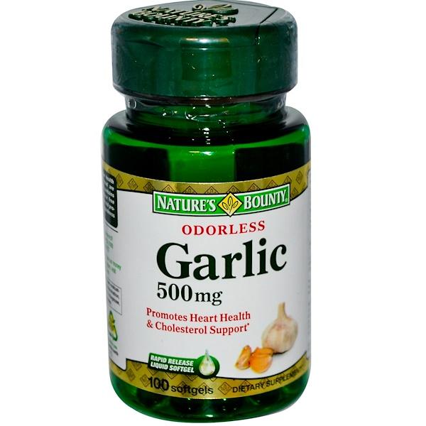 Nature's Bounty, Odorless Garlic, 500 mg, 100 Softgels (Discontinued Item)