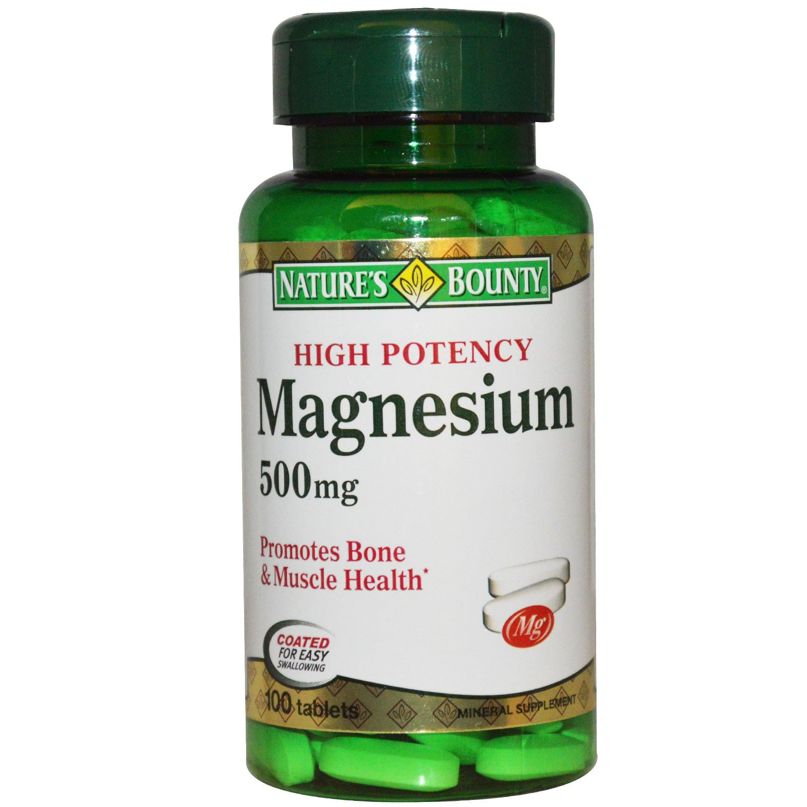 Nature 39 s bounty magnesium high potency 500 mg 100 for Nature s bounty fish oil review