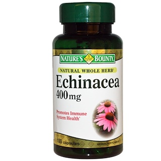 Nature's Bounty, Equinácea, 400 mg, 100 Cápsulas