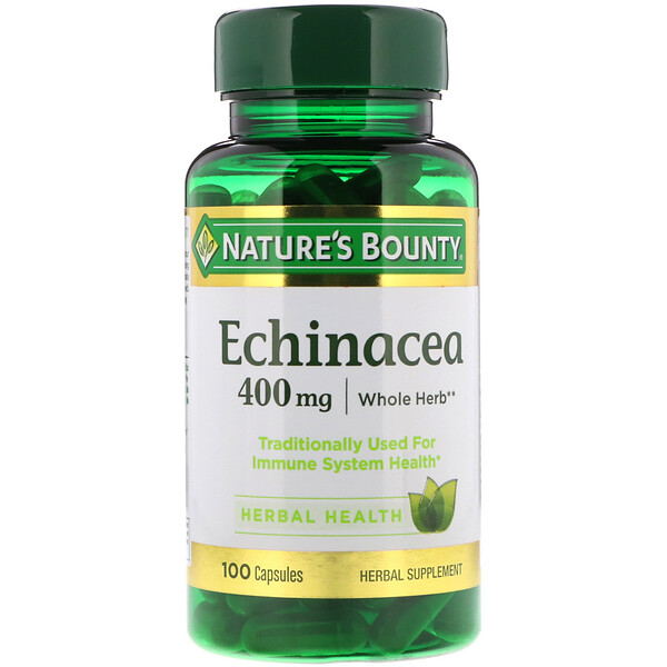 Nature's Bounty, Echinacea, 400 mg, 100 Capsules