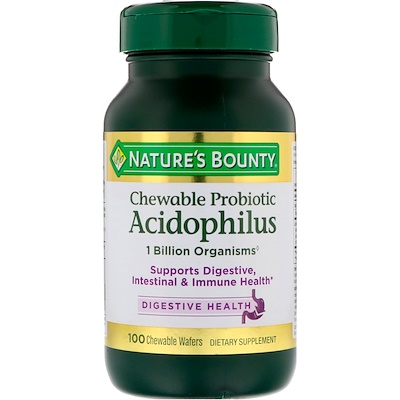 Chewable Probiotic Acidophilus, Natural Strawberry Flavor, 100 Wafers