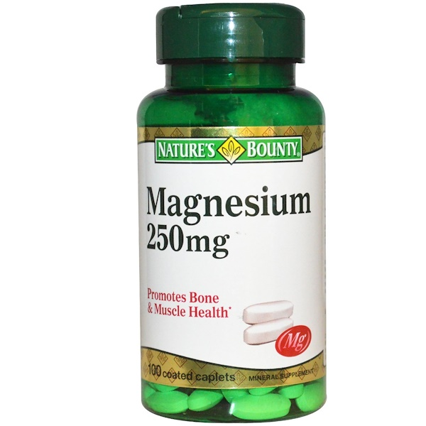 Nature's Bounty, Magnesium, 250 mg, 100 Coated Caplets (Discontinued Item)