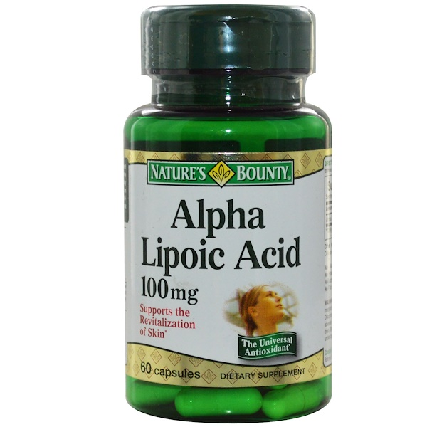 Nature's Bounty, Alpha Lipoic Acid, 100 mg, 60 Capsules (Discontinued Item)
