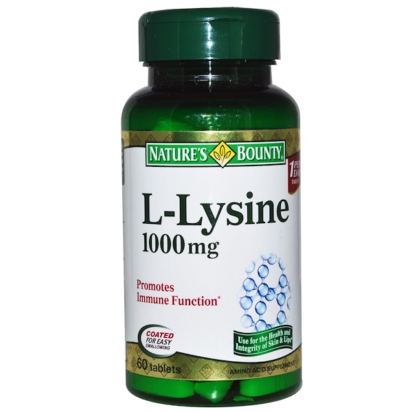 Nature's Bounty, L-Lysine, 1000 mg, 60 Tablets (Discontinued Item)