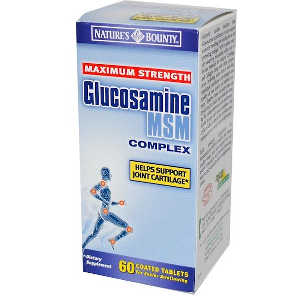 Nature's Bounty, Комплекс Глюкозамин МСМ, Максимальная сила 60 таблеток (Discontinued Item)