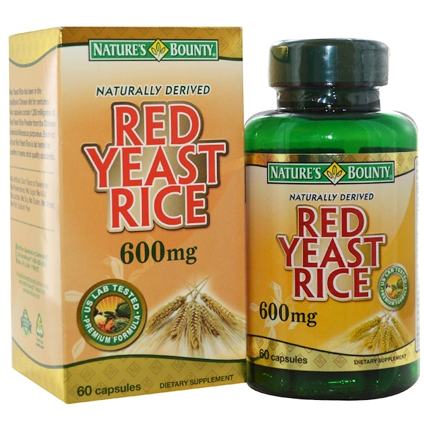 Nature's Bounty, Red Yeast Rice, 600 mg, 60 Capsules (Discontinued Item)