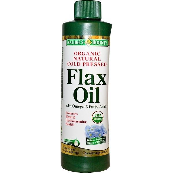 Nature's Bounty, Flax Oil, with Omega-3 Fatty Acids, 8 fl oz (236 ml) (Discontinued Item)