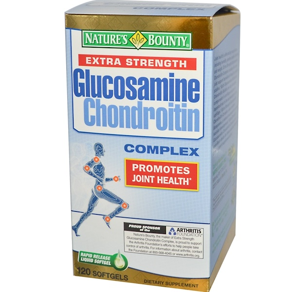 Nature's Bounty, Extra Strength Glucosamine Chondroitin Complex, 120 Softgels (Discontinued Item)
