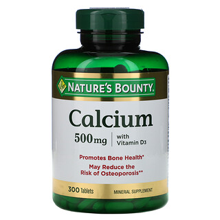 Nature's Bounty, Calcium with Vitamin D3, 500 mg, 300 Tablets