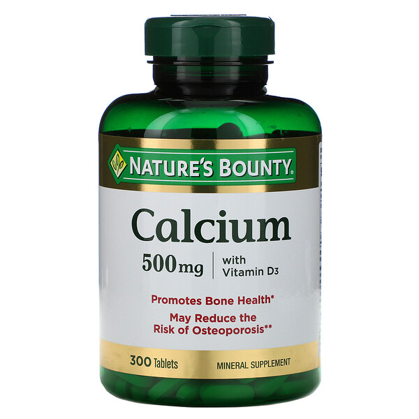 Calcium with Vitamin D3, 500 mg, 300 Tablets